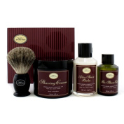 The 4 Elements Of The Perfect Shave - Sandalwood (New Packaging) (Pre Shave Oil + Shave Crm + A/S Balm + Brush), 4pcs