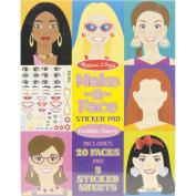 Melissa & Doug Make-a-Face Fashion Faces Sticker Pad