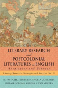 Literary Research and Postcolonial Literatures in English