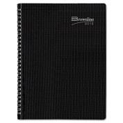 Brownline 2013 DuraFlex Monthly Planner, 14 months (December 2012 - January 2014), Twin-Wire, Black, 28cm x 22cm