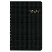 Brownline CB634V. BLK DuraFlex Daily Planner, 5 x 8, Black, 2013
