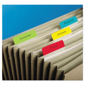 Post-It 686A-ALYR Hanging File Tabs 2 x 1.5 Solid Angled Assorted Primary 24-PK