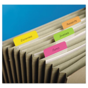 Post-It 686A-PLOY Hanging File Tabs 2 x 1.5 Solid Angled Assorted Bright 24-PK