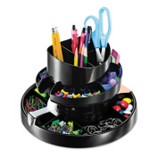 Recycled Rotary Organizer, 16 compartments, 10 1/4 x 6 3/4, Black
