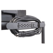 Balt 66450 Four-Outlet Electrical Assembly with Winder 25-Foot Cord Black