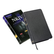 NKJV Pitt Minion Reference Edition NK444:XR Black Calf Split Leather