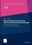 Steuerklientelunsicherheit Und Investitionsentscheidungen