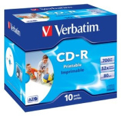 Verbatim CD-R 700MB JC White Wide InkJet 52x ~ 10Pk