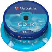 Verbatim CD-R 700MB 52x ~ 25Pk Spindle