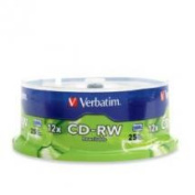 Verbatim CD-RW 700MB 25Pk Spindle 4x-12x High Speed