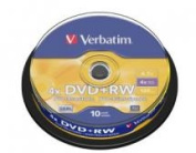 Verbatim DVD+RW 4.7GB 10Pk Spindle 4x