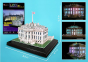 White House 3D Puzzle with Base & Led Lights 56 Pieces