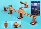 3D Puzzles CF107H Brooklyn Bridge 3D Puzzle - 64 Pieces