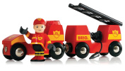 Light and Sound Fire Engine - BRIO Rail - from Marbel Toys