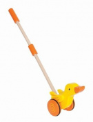 Hape E0343 Duck Push and Pull Toddler Toy