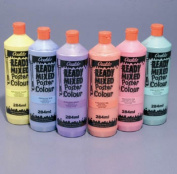 Ready Mixed Poster Colour Pearlescent/Metallic 284ml Bottle - Pewter