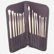 Ziggy Art University Brush Wallet with 16 Hog Brushes