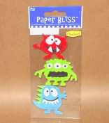 Mini Paper Bliss Stickers Silly Monsters