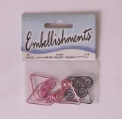 Wire Heart Shape Embellishments