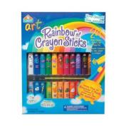Elmer's Rainbow of 24 Crayon Sticks