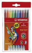 NEW! TRIO Twin Tip (2 in 1) Felt-Tip Pens STABILO
