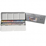 Artists' Watercolour 24 Half Pan Lightweight Sketchers Box WINSOR & NEWTON