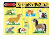 Melissa & Doug Pets Sound Puzzle - Wooden With Sound 8 pcs