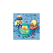2 Dozen (24) 4th of July Patriotic RUBBER DUCK Ducky Party Favours [Toy]