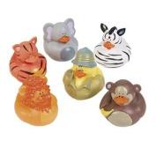 6 Safari Rubber Duckies