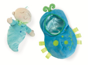 Manhattan Toy Snuggle Pod Snuggle Bug First Baby Doll with Cosy Sleep Sack for Ages 6 Months and Up