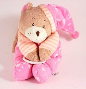 Pink teddy bear pull down music box - Brahms Lullaby tune