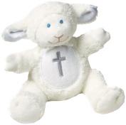 Mary Meyer Christening Plush Rattle, Lamb