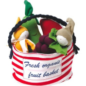100% Organic Cotton Stuffed Multi Fruit Tote--Fresh Organic Fruit Basket
