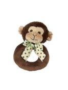 Baby Plush Monkey Ring Rattle - Bearington Lil Giggles