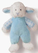 Russ New Baby Blue Rattle Pals Lamb Small Soft Toy - 18cm Tall