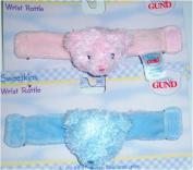 Sweetkins Bear Wrist Rattle 15cm Blue