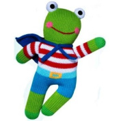 Zubels Frog Freddy 18cm 100% Hand-Knit Rattle