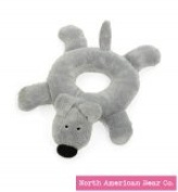 Grey Ollie Dog Rattle Ring by North American Bear Co.