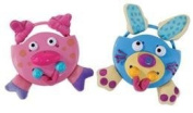 Funny Face Pets Rattle - Assorted
