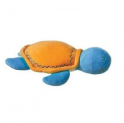 Mary Meyer Organic Cotton Plush Turtle Rattle - Orange Shell