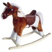 Charm Company Pinto Horse Rocker, Brown Saddle Brown Saddle