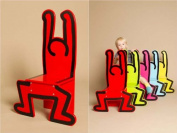 Vilac Keith Haring Wooden Chair, Red