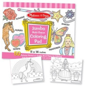 Jumbo Colouring Pad - Pink 11x14 -