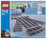 Lego World City Switching Tracks for 9V Trains #4531