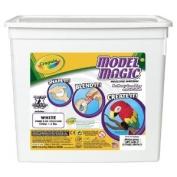 Crayola 57-4400 Model Magic Modelling Compound, 0.9kg. Bucket, White, Four 240ml Pouches