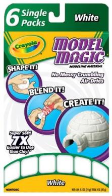 . Model Magic Single Packs White (6 Single Packs)