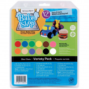 Sculpey BAVPPA Sculpey Bake Shop Clay Variety Pack 14 Ounces