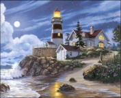 Lighthouse in Moonlight 3D Decoupage Paper Tole Craft Kit 8x10