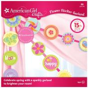 American Girl Crafts Garland, Flower Sticker
