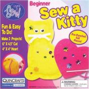 Begin To Sew Kit-Kitten W/Heart